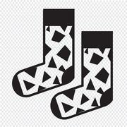 Sock icon Stock Illustration