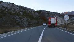 Traffic Accident on the Highway at Dusk Stock Footage