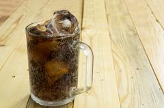 Drink soda cola cup glass caffeine liquid concept Stock Photos