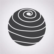 Sphere abstract lines icon - stock illustration