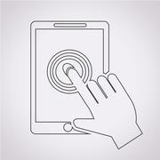 Stock Illustration of Smartphone touchscreen icon