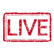 Stamp text LIVE Stock Illustration