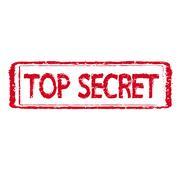 TOP SECRET stamp text  Illustration - stock illustration