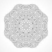 Mandala. Ethnic decorative elements Indian, Islam, arabic motifs - stock illustration