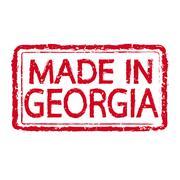 Made in GEORGIA stamp text Illustration - stock illustration