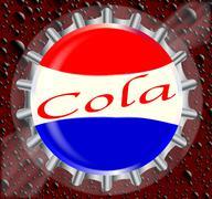 Cola Bottle Cap With Bubbles Stock Illustration