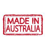 Made in AUSTRALIA stamp text Illustration - stock illustration