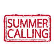 SUMMER CALLING text design - stock illustration