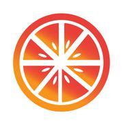 Orange fruit icon Stock Illustration