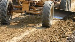 Motorgrader Working Construction Road Stock Footage