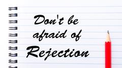 Don't Be Afraid Of Rejection Stock Illustration
