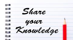 Share Your Knowledge - stock illustration