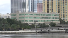 Office Building Near Water Tampa Florida Stock Footage