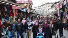 Grand Bazaar streets with shops and people in Istanbul. Istanbul. Turkey - stock footage