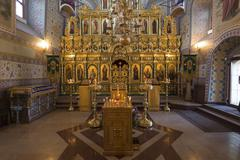 SUZDAL, RUSSIA - 06.11.2015. The iconostasis in  Church of the Assumption - stock photo