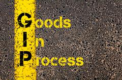 Business Acronym GIP as Goods In Process - stock photo