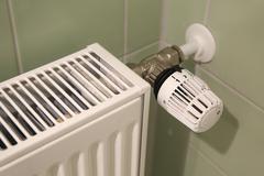 Radiator heating detail - stock photo