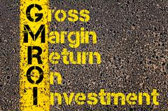 Business Acronym GMROI as Gross Margin Return On Investment - stock photo