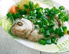 Fish head casserole - stock photo