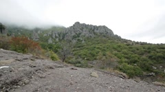 Crimea mountain Demerdzhi  Valley of ghosts - stock footage
