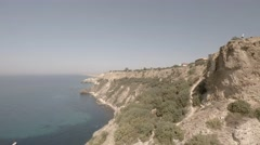 Crimea. Cape Phiolent. Aerial View. Different point shooting. - stock footage