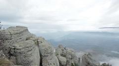 Crimea mountain Demerdzhi mountains Stock Footage