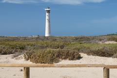 Jandia lighthouse in Fuerteventura, Spain Stock Photos