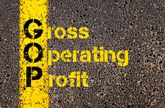 Business Acronym GOP as Gross Operating Profit - stock photo