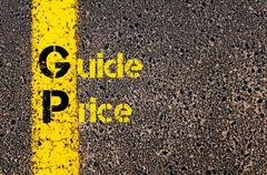 Business Acronym GP as Guide Price Stock Photos