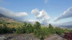 Crimea Karaby Yayla Mountains clear cloud Stock Footage