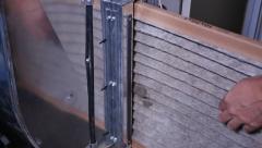 Replacing Dirty Furnace Air Filter Stock Footage
