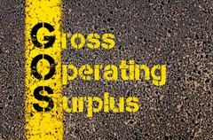 Business Acronym GOS as Gross Operating Surplus - stock photo