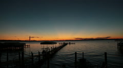 Sunset at Clear Lake, Iowa Stock Footage