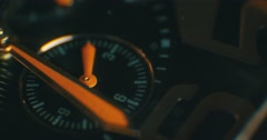 luxury man watch detail, chronograph close up - stock footage