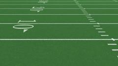 American Football Field fly through Stock Footage