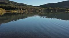 Lake Hun Crimea mountains near dawn Stock Footage