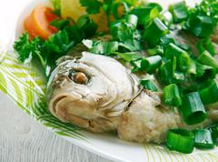 Stock Photo of Fish head casserole