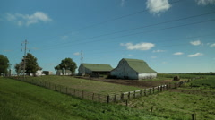 Historic farm buildings in Iowa Stock Footage