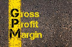Business Acronym GPM as Gross Profit Margin - stock photo