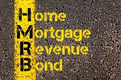 Business Acronym HMRB as Home Mortgage Revenue Bond Stock Photos