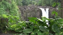 Rainbow Falls, Jungle view Hawaii Stock Footage