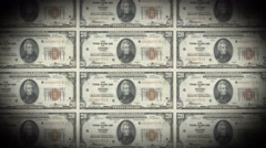 USD 20 dollar notes looping background unite states dollar Stock Footage