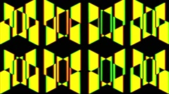 Vj Loops Geometric Yellow Art Visual Seamless Background Stock Footage