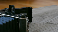 Old camera equipment Stock Footage