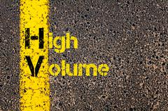 Business Acronym HV as High Volume - stock photo