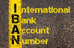 Business Acronym IBAN as International Bank Account Number - stock photo