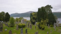 Loch Ness Cemetery Stock Footage