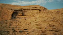 Stock Video Footage of Judean Desert canyon of Wadi Kelt in Israel.