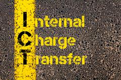Business Acronym ICT as Internal Charge Transfer - stock photo