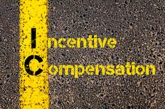Business Acronym IC as Incentive Compensation - stock photo